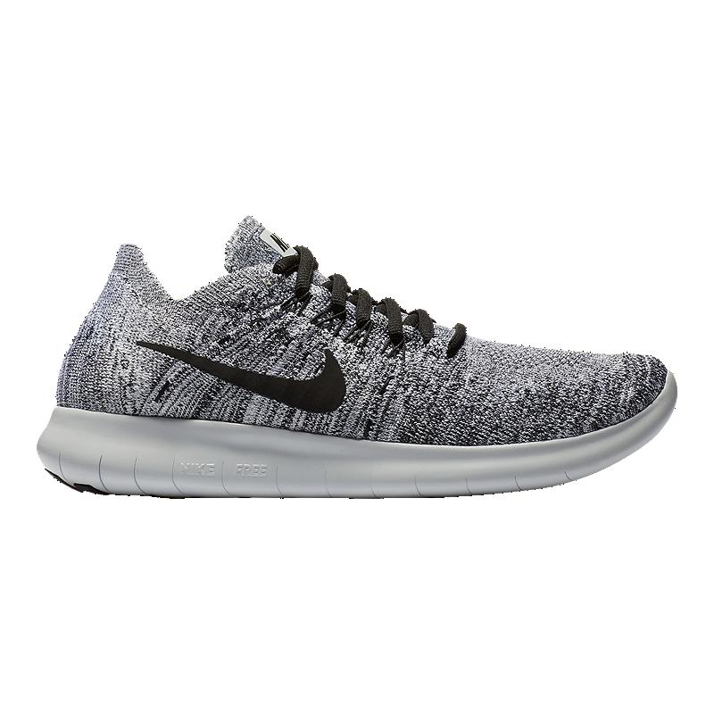 3b216b698 Nike Women s Free RN Flyknit 2017 Running Shoes - White Black Silver ...