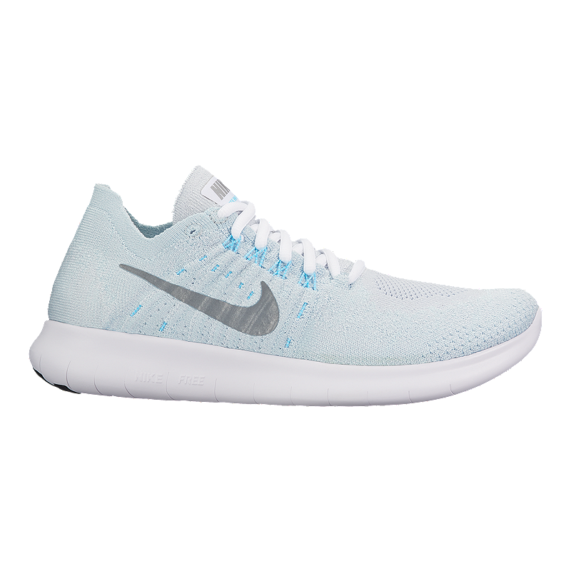 c5df6419160b Nike Women s Free RN Flyknit 2017 Running Shoes - Silver White ...
