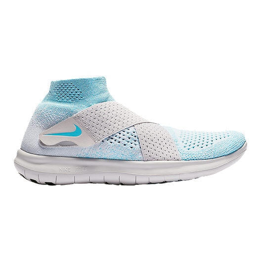 247ca5109eb6 Nike Women s Free RN Motion Flyknit 2017 Running Shoes - Blue Platinum