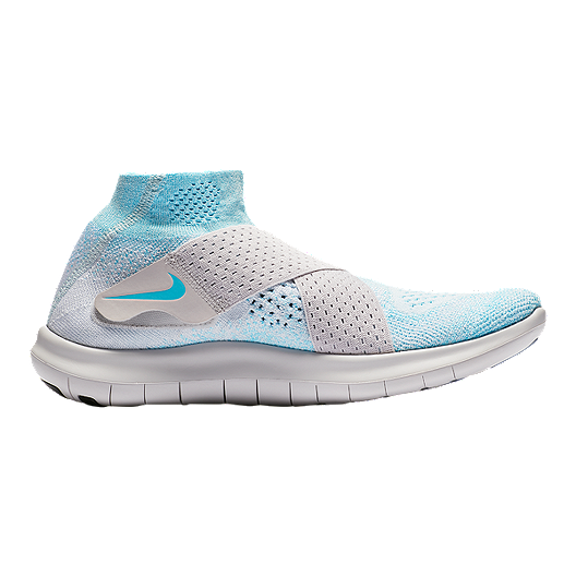 8d9a7411df7f Nike Women s Free RN Motion Flyknit 2017 Running Shoes - Blue ...