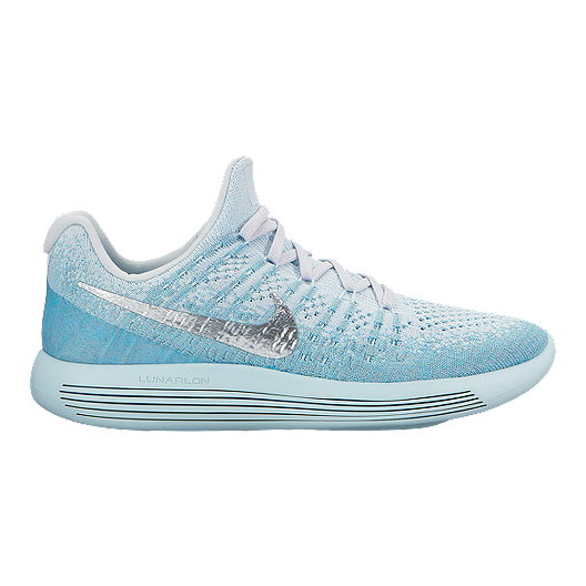 367a40dbfb211 Nike Women s LunarEpic Low Flyknit 2 Running Shoes - Blue Silver ...