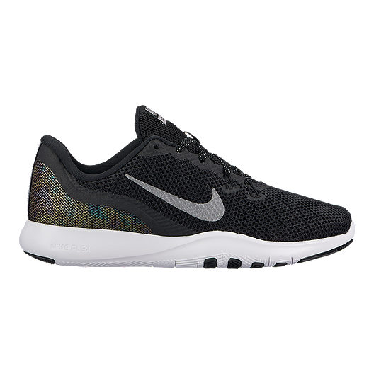 858015bc13c2 Nike Women s Flex Trainer 7 Metallic Training Shoes - Black Grey White