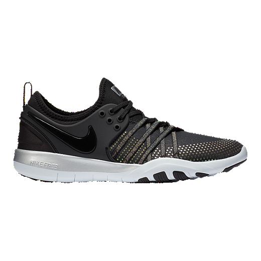 new product 84f5e e7383 Nike Women s Free TR 7 Metallic Training Shoes - Black Platinum - BLACK  PURE PLATINUM