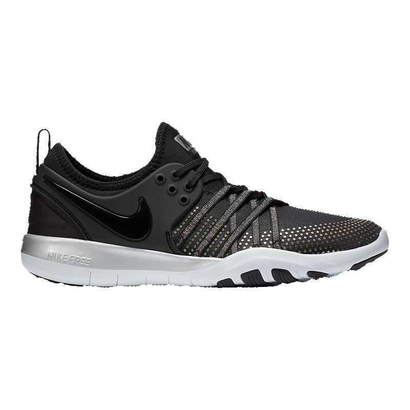 buy online 46b3d 07c2a Nike Women's Free TR 7 Metallic Training Shoes - Black/Platinum