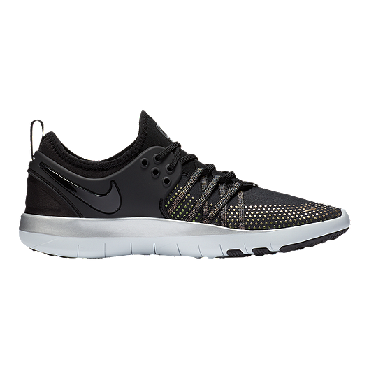 6a41cec07fd30 Nike Women s Free TR 7 Metallic Training Shoes - Black Platinum ...