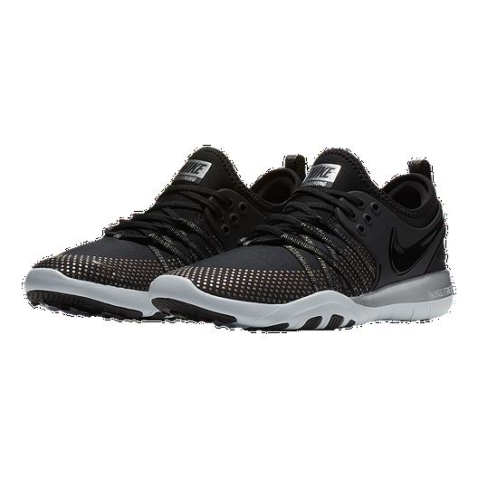 14cfeb2006217 Nike Women s Free TR 7 Metallic Training Shoes - Black Platinum. (1). View  Description