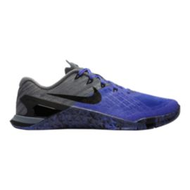 Nike Women's Metcon 3 Training Shoes - Violet/Black/Grey