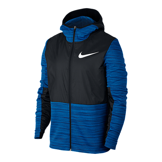 e99e404ade311 Nike Men's Winterized Basketball Hoodie - BINARY BLUE/BLACK
