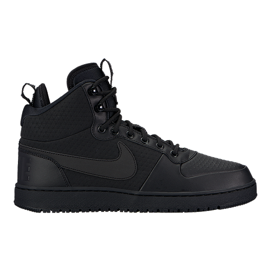 40ee9205a00103 Nike Men s Court Borough Mid Winter Boots - Black