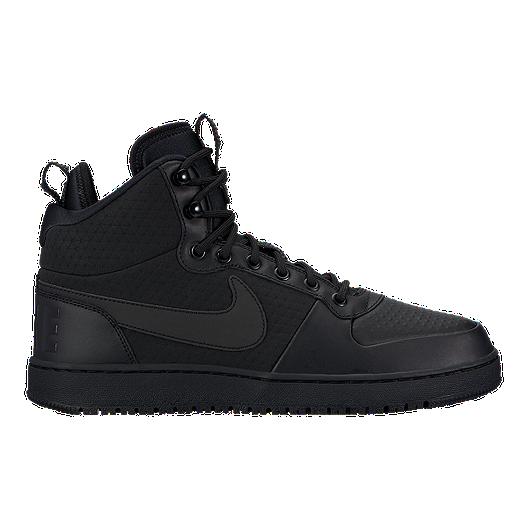 1d2cb62dc2a3c Nike Men s Court Borough Mid Winter Boots - Black