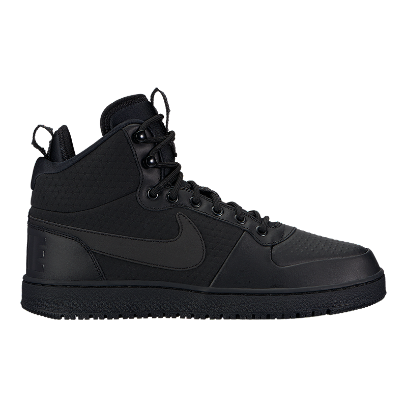 7fbee151286 Nike Men s Court Borough Mid Winter Boots - Black