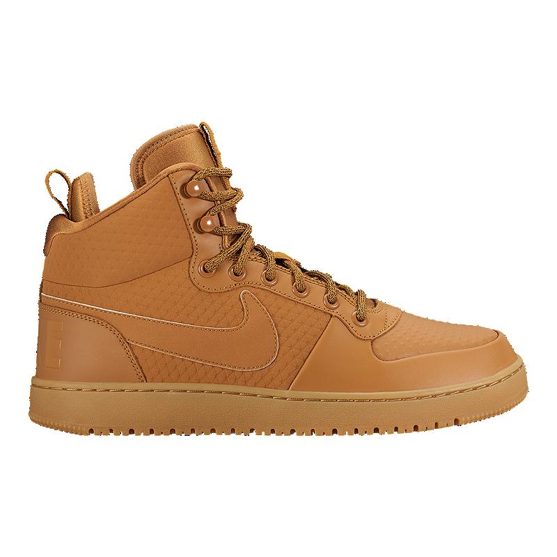 ed7a35f8a170 Nike Men s Court Borough Mid Shoes - Wheat Black