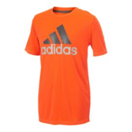adidas Boys' Clima Performance Logo T Shirt