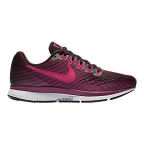 Nike Women's Air Zoom Pegasus 34 Running Shoes - Wine Red/Berry/Black