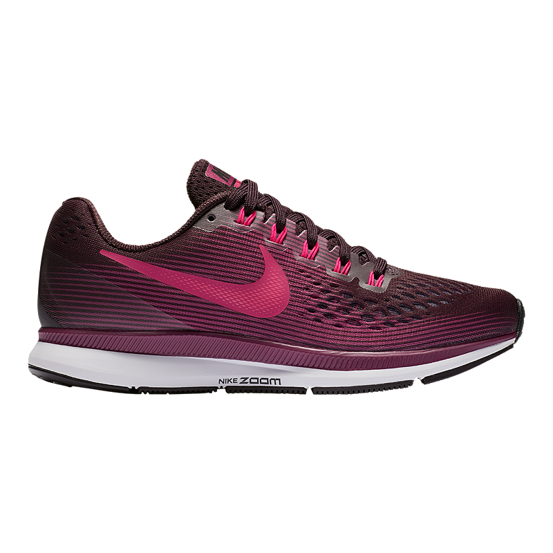 6a61468010b7 Nike Women s Air Zoom Pegasus 34 Running Shoes - Wine Red Berry Black
