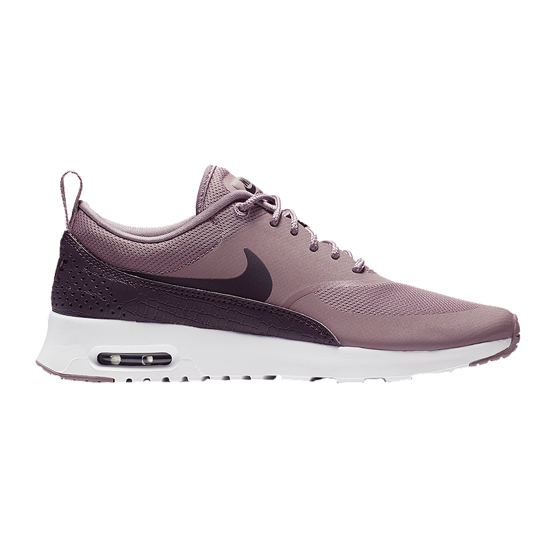 5ca79d3cc5da Nike Women s Air Max Thea Shoes - Taupe Grey Port Wine