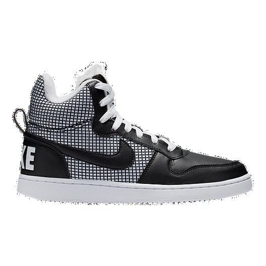 2f955be014458 Nike Women s Court Borough Mid SE Shoes - White Black
