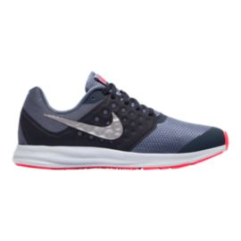 Nike Girls' Downshifter Grade School Shoes - Thunder/Silver