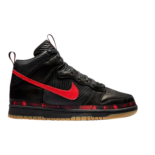 c30c59fbae73 Nike Men s N7 Dunk Hi Prem Shoes - Black Red Gum