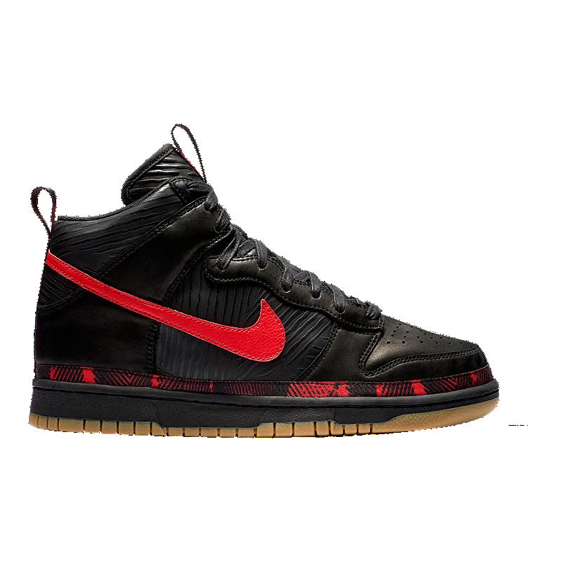 on sale 3dc21 50726 Nike Mens N7 Dunk Hi Prem Shoes - BlackRedGum  Sport Chek