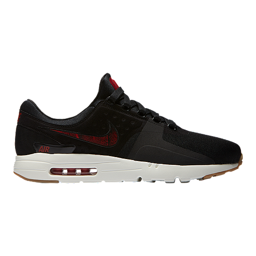 the latest e4e93 11489 Nike Men s N7 Air Max Zero Shoes - Black Red Gum   Sport Chek