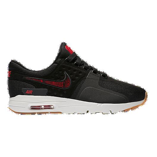 check out c987c 847b3 Nike Women s N7 Air Max Zero Shoes - Black Red Gum   Sport Chek