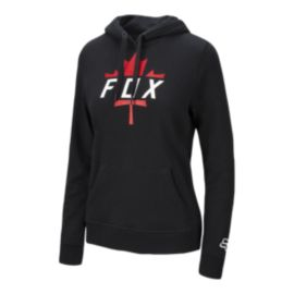 Fox Women's Canada Leaf Moth Pullover Hoodie - Black