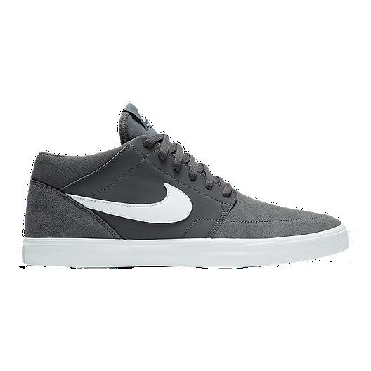 2f621ec88ea Nike Men s SB Portmore Solar Mid Skate Shoes - Dark Grey White ...