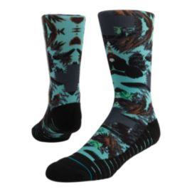 Stance Men's Fusion Athletic Aqua Cabo Crew Socks