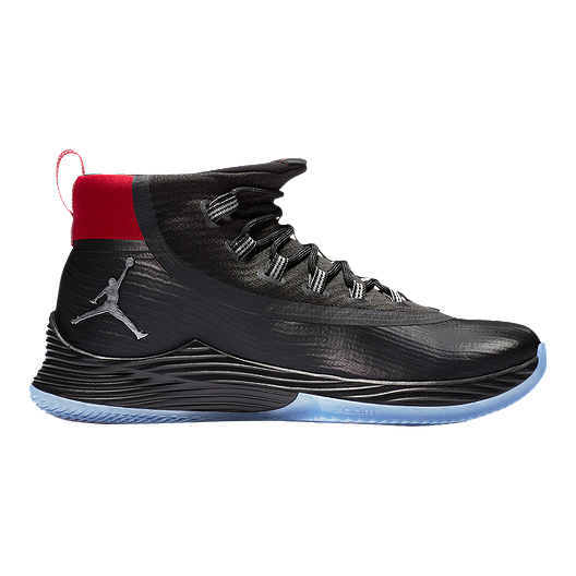 ae7518fab3ff9 Nike Men s Jordan Ultra Fly 2 Basketball Shoes - Black Silver Red ...