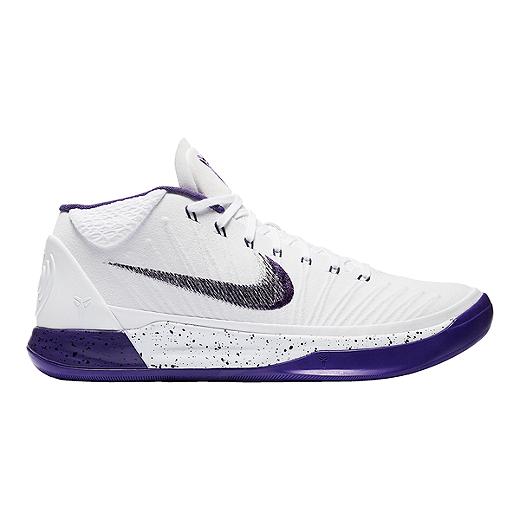 be9184fd533 Nike Men s Kobe A.D. 1 Basketball Shoes - White Purple Black - WHITE