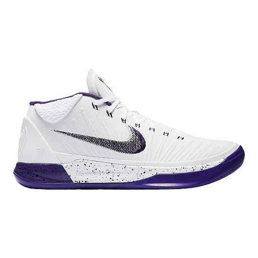 daca475450ec Nike Men s Kobe A.D. 1 Basketball Shoes - White Purple Black