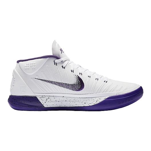 58acd7388f7e Nike Men s Kobe A.D. 1 Basketball Shoes - White Purple Black