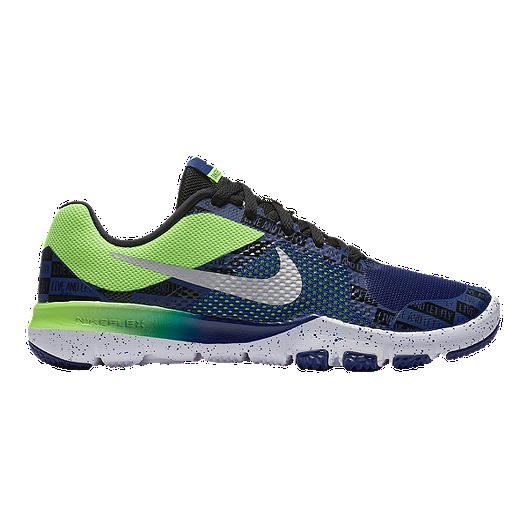 9fd6ffd600ea Nike Kids  Flex TR Control RW Grade School Shoes - Blue Green ...