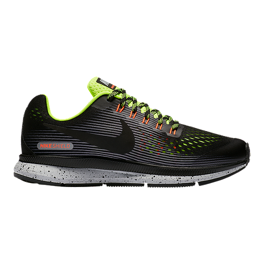cdedb8689d76 Nike Kids  Zoom Pegasus 34 Grade School Shoes - Black Volt Grey ...
