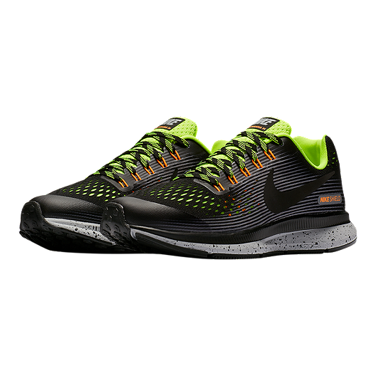 570375a091a6 Nike Kids  Zoom Pegasus 34 Grade School Shoes - Black Volt Grey. (1). View  Description