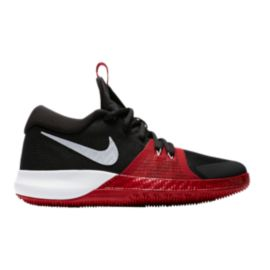 Nike Kids' Zoom Assersion Grade School Basketball Shoes - Black/White/Red