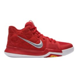 Nike Kids' Kyrie III Grade School Basketball Shoes - Red/Grey