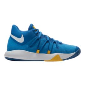 Nike Kids' Trey 5 V Grade School Basketball Shoes - Blue/White/Gold