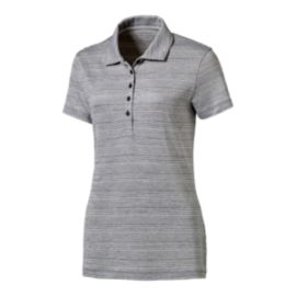 PUMA Golf Women's Heather Stripe Polo