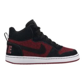Nike Kids' Court Borough Mid Grade School Shoes - Red/Black/White