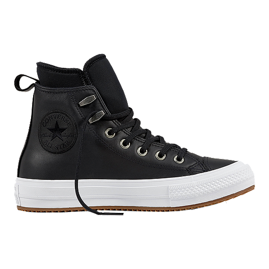 Converse Women s Chuck Taylor All Star Waterproof Leather Boots - Black  e6279e89d