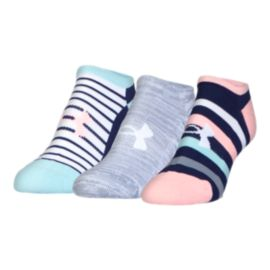 Under Armour Women's Solo Athletic Solo No Show Socks 3 - Pack
