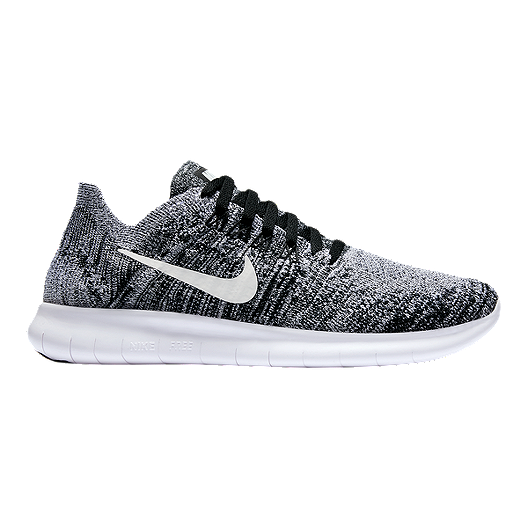 2bbcf6d64fc3 Nike Kids  Free RN Flyknit Grade School Shoes - Black White