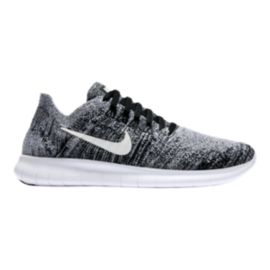 Nike Kids' Free RN Flyknit Grade School Shoes - Black/White