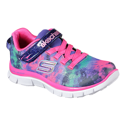 162662934f6c Skechers Girls  Skech Appeal Tie Dye Preschool Shoes - Multi Colour White