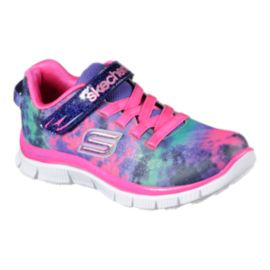 Skechers Girls' Skech Appeal Tie Dye Preschool Shoes - Multi Colour/White
