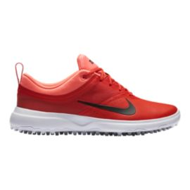 Nike Women's Akamai Golf Shoes - Max Orange/Lava
