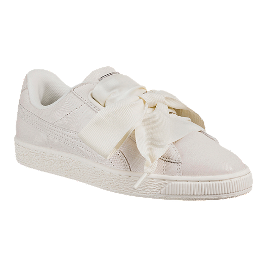 sélection premium a85b2 7232a PUMA Women's Basket Heart Night Sky Shoes - White
