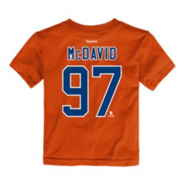Edmonton Oilers Toddler Connor McDavid Player T Shirt